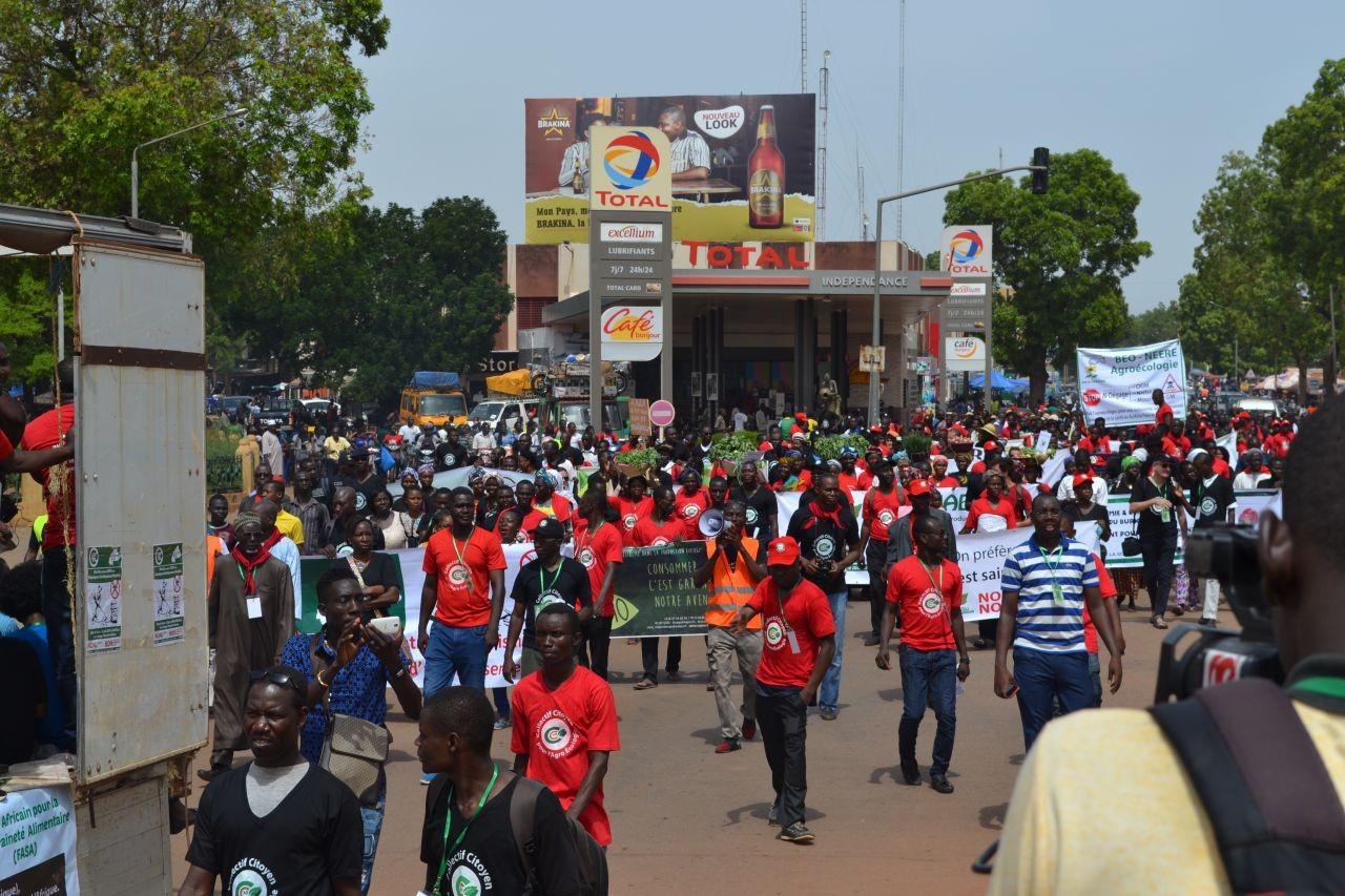 Grande marche de protestation à Ouagadougou